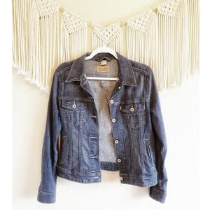 LEVI'S Dark Wash Button Down Denim Jean Jacket M
